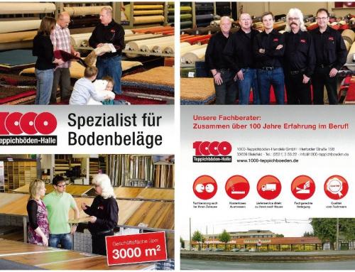 Eine neue Broschüre von Firma 1000 Teppichböden aus Bielefeld