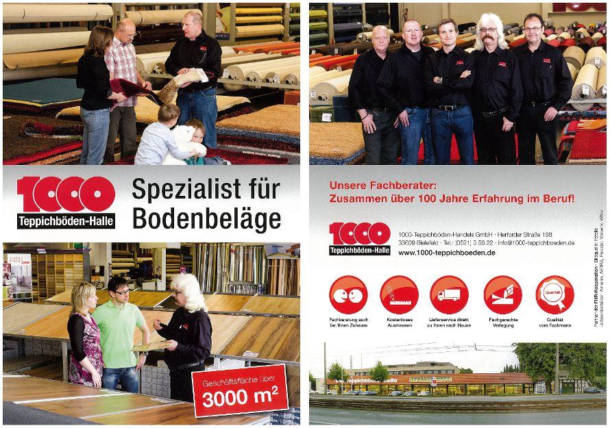 Broschüre 1000 Teppichböden Bielefeld – erste und letzte Seite