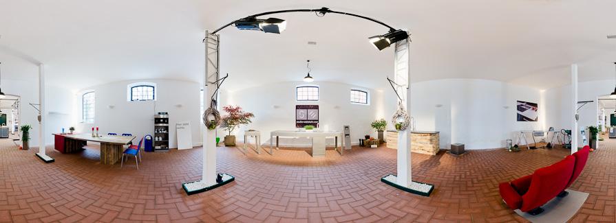 Panorama Firma Stadler Edelstahl Küchenmeile 2011 auf Gut Böckel