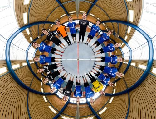 Beim Training der Handballmannschaft B-Jugend (Jahrgang 95/96) vom JSG Lenzinghausen Spenge