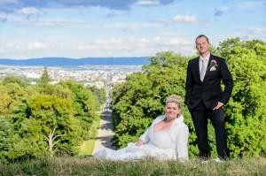 Schloss Wilhelmshöhe - Brautpaarshooting - mit Blick über Kassel