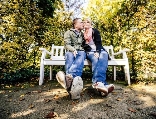 Verlobtenshooting im Botanischen Garten in Gütersloh