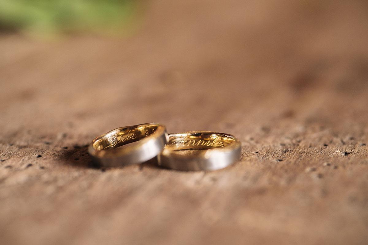 Als Hochzeitsfotograf bei den Vorbereitungen - Ringe