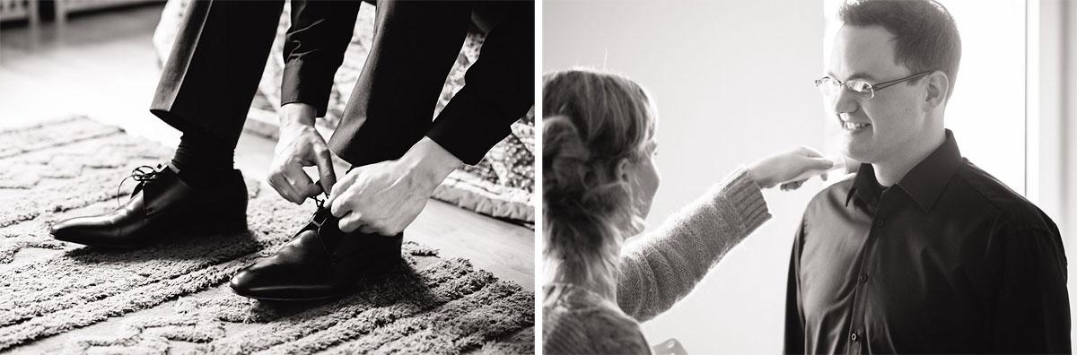 Als Hochzeitsfotograf bei den Vorbereitungen