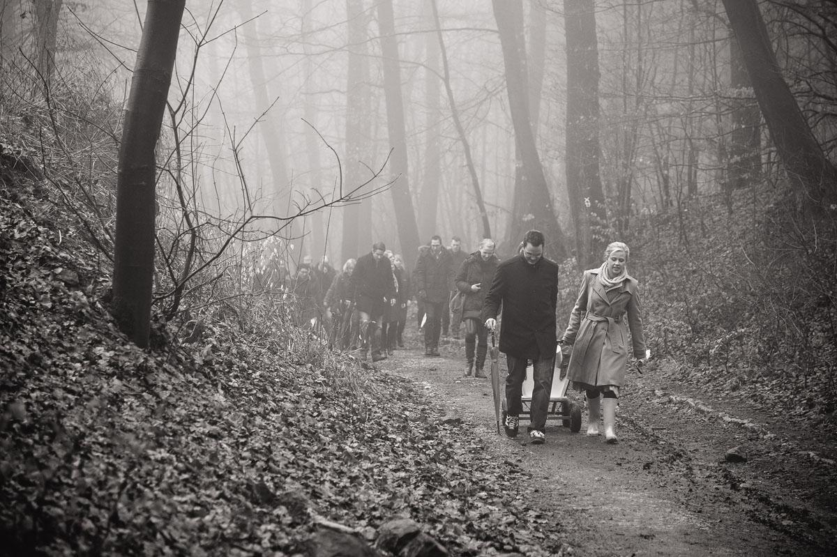Wanderung zur Hochzeitsfeier im Teutoburger Wald