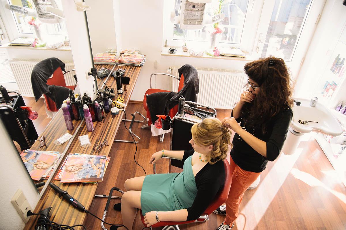 Hochzeitsreportage Wangerooge - beim Friseur