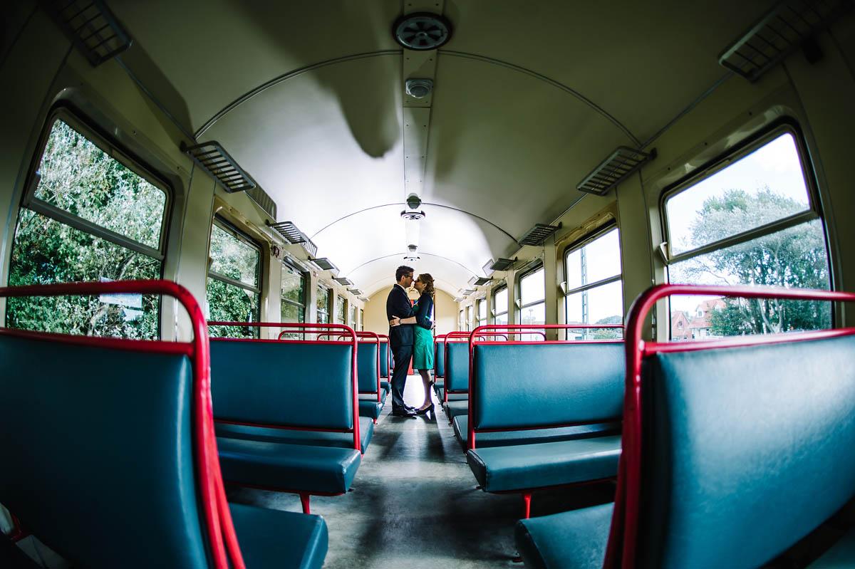 Hochzeitsbilder am  Bahnhof auf Wangerooge
