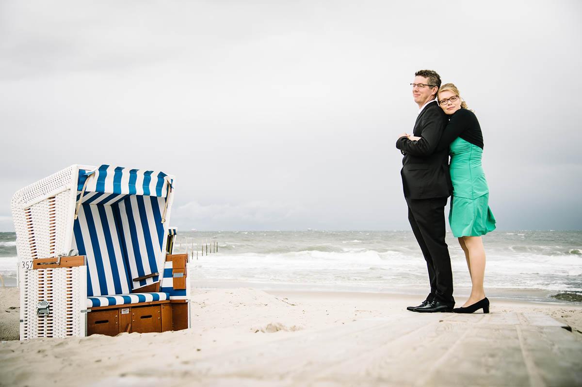 Hochzeitsbilder am  Strand auf Wangerooge