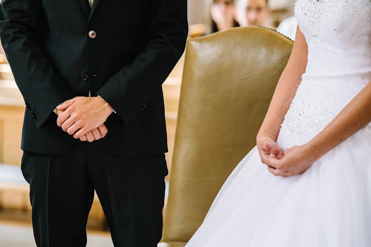 Anspannung beim Brautpaar