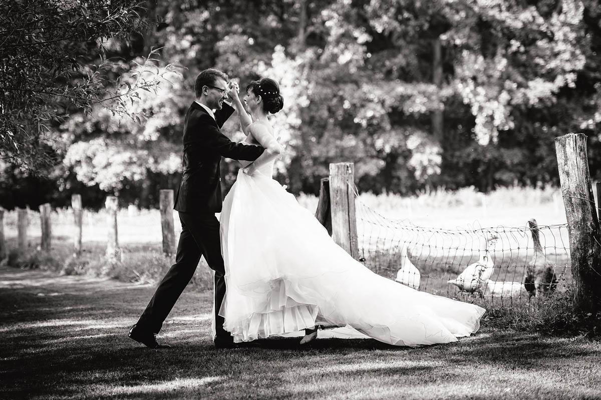 üben der Hochzeitstanzes
