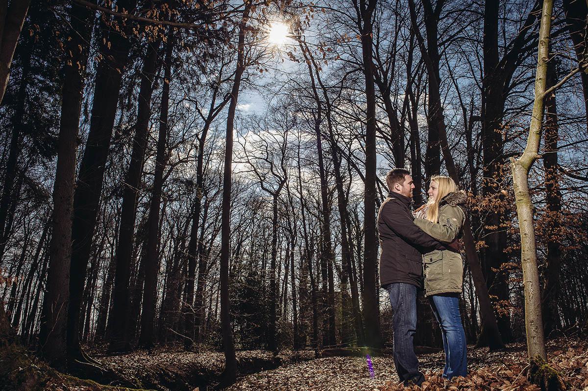 Paarshooting - Gegenlichtaufnahme mit Blitz